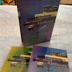 Libros: LA ARQUITECTURA TRADICIONAL DE CASTILLA Y LEÓN. 2 VOLS. CON CAJA.. Lote 287070208