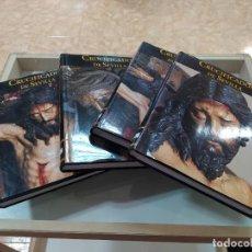 Libros: CRUCIFICADOS DE SEVILLA. ED. TARTESSOS. 4 TOMOS COMPLETO - TERCIOPELO. Lote 292304403