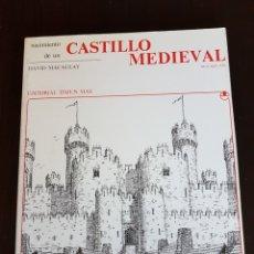 Libros: NACIMIENTO DE UN CASTILLO MEDIEVAL DAVID MACAULAY. Lote 108798468