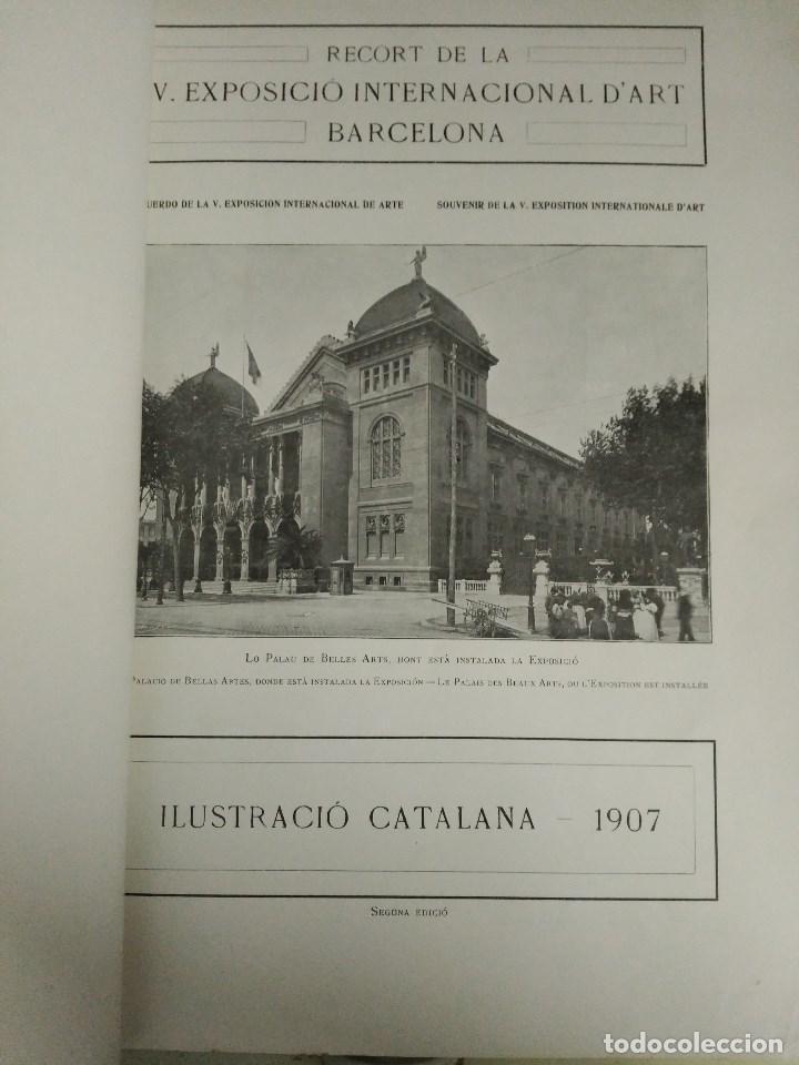 Libros: RECORD DE LA EXPOSICIÓ INTERNACIONAL DART DE BARCELONA 1907 - Foto 3 - 120023775