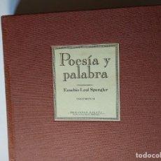 Libros: POESÍA Y PALABRA. HISTORIA DE LA HABANA POR EUSEBIO LEAL SPENGLER DOS TOMOS EN SUS ESTUCHES.. Lote 148516822