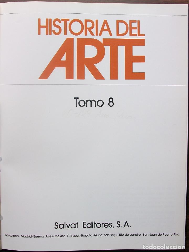 Libros: HISTORIA DEL ARTE. TOMO 8. EDITORIAL SALVAT - Foto 2 - 149186386