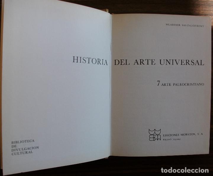 Libros: HISTORIA DEL ARTE UNIVERSAL. 7 ARTE PALEOCRISTIANO. WLADIMIR SAS-ZALOZIECKY - Foto 2 - 150574954