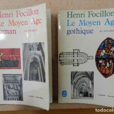 Libros: HENRI FOCILLON. EDICIÓN EN FRANCÉS . Lote 152460702