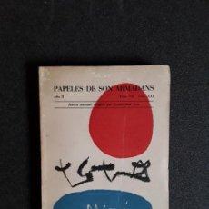 Libros: MIRÓ JOAN. PAPELES DE SON ARMADANS. NÚMERO EXTRAORDINARIO DEDICADO A MIRO. 1957. Lote 155556442
