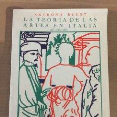 Libros: LA TEORIA DE LAS ARTES EN EUROPA. Lote 174018174