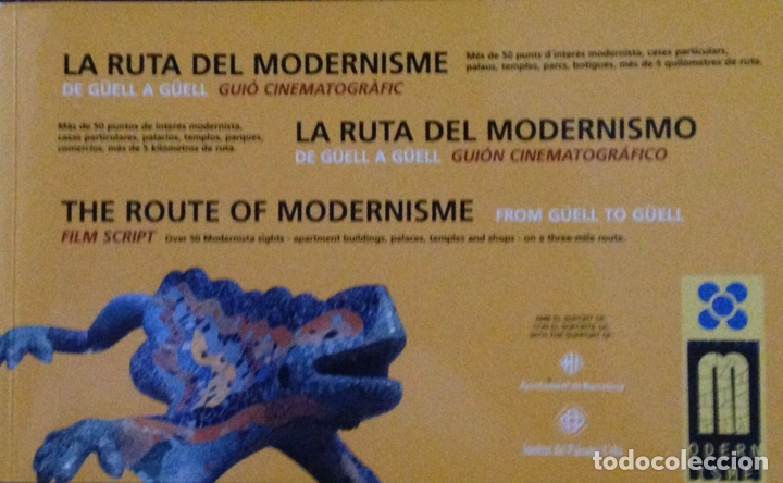 Libros: La ruta del modernisme, La ruta del modernismo, The route of modernisme - Foto 1 - 178134374