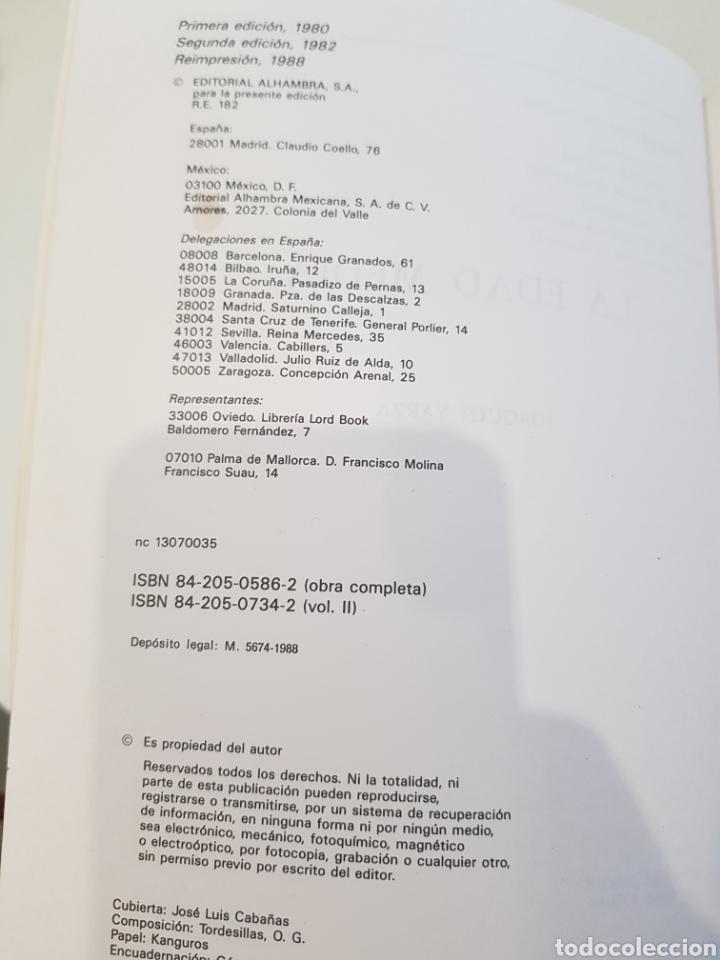 Libros: La Edad Media ,J.Yarza ,Editorial Alhambra 1988 - Foto 2 - 210691961