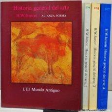 Libri: HISTORIA GENERAL DEL ARTE. H.J. JANSON. IV VOLÚMENES. Lote 227476225