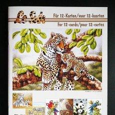 Libros: RR. 1 CUADERNO CON 12 PÁGINAS PARA MANUALIDADES O DECOUPAGE EN 3D. ANIMALES SALVAJES. TAMAÑO A5.. Lote 36487349