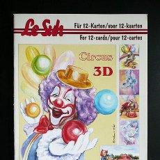 Libros: RR. 1 CUADERNO CON 12 PÁGINAS PARA MANUALIDADES O DECOUPAGE EN 3D. CIRCO TAMAÑO A5.. Lote 36487446