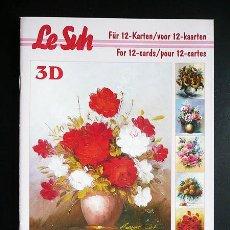 Libros: RR. 1 CUADERNO CON 12 PÁGINAS PARA MANUALIDADES O DECOUPAGE EN 3D. FLORES. TAMAÑO A5.. Lote 36487533