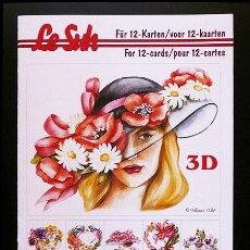 Libros: RR. 1 CUADERNO CON 12 PÁGINAS PARA MANUALIDADES O DECOUPAGE EN 3D. FLORES. TAMAÑO A5.. Lote 36487585