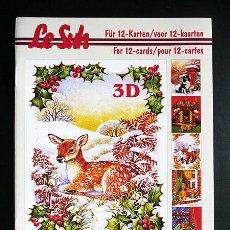 Libros: RR. 1 CUADERNO CON 12 PÁGINAS PARA MANUALIDADES O DECOUPAGE EN 3D. NAVIDAD. TAMAÑO A5.. Lote 36487647