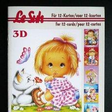 Libros: RR. 1 CUADERNO CON 12 PÁGINAS PARA MANUALIDADES O DECOUPAGE EN 3D. INFANTIL. TAMAÑO A5.. Lote 36487673