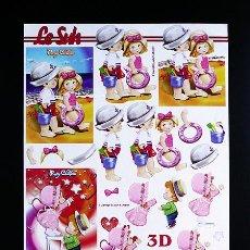 Libros: RR. LAMINA RECORTABLE PARA HACER MANUALIDADES EN 3D. DECOUPAGE. NIÑOS 6. TAM. A4.. Lote 76540503