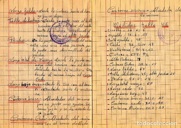 Libros: EL RAPIDO.MÉTODO DE CORTE Y CONFECCIÓN. ÁNGELA LOPEZ AMADOR. Y CUADERNO APRENDIZAJE SECCIÓN FEMENINA - Foto 7 - 119881787