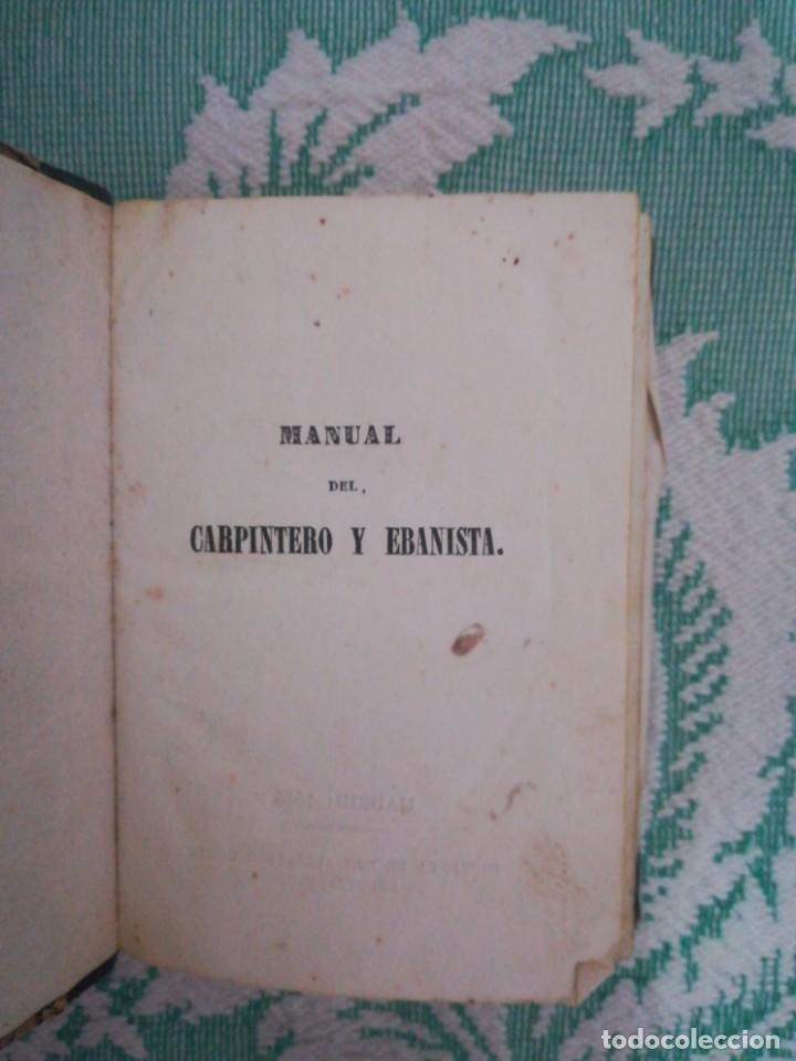 Libros: Manual del carpintero y ebanista de muebles y edificios, 1845 - Foto 2 - 134004294