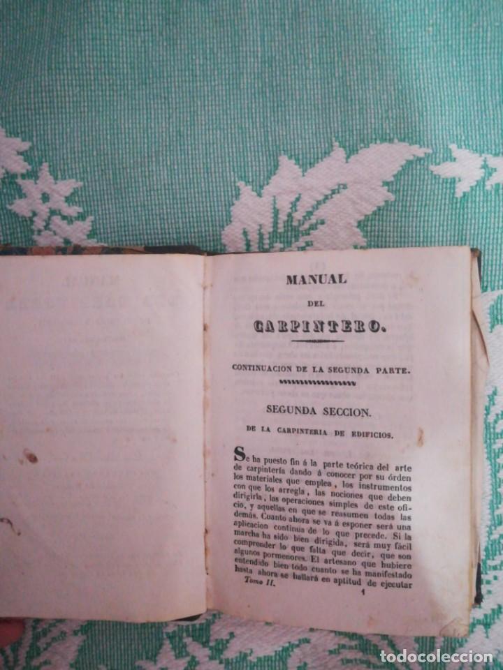 Libros: Manual del carpintero y ebanista de muebles y edificios, 1845 - Foto 4 - 134004294