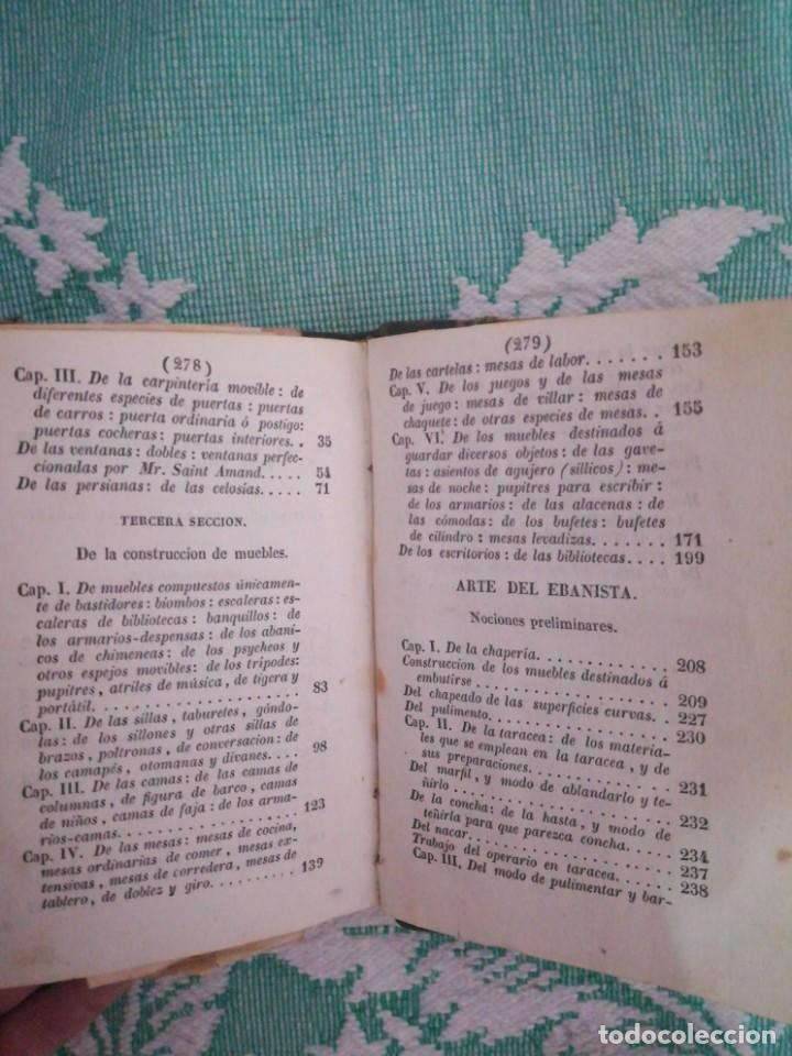 Libros: Manual del carpintero y ebanista de muebles y edificios, 1845 - Foto 10 - 134004294
