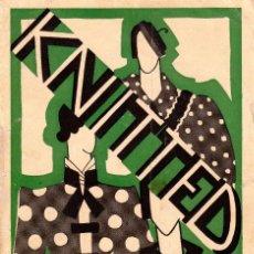 Libros: KNITTED GUIA DE LABORES DE PUNTO DE MEDIA TOMO 1. 1934 4º, 220 PAG.. Lote 144107734
