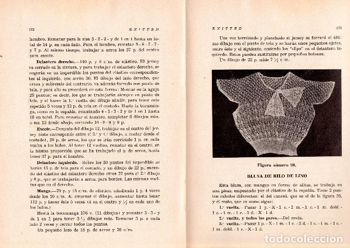 Libros: KNITTED GUIA DE LABORES DE PUNTO DE MEDIA TOMO 1. 1934 4º, 220 PAG. - Foto 6 - 144107734