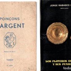 Libros: 2 LIBROS MARCAS Y PUNZONES DE LA PLATA,PLATEROS ESPAÑOLES Y SUS PUNZONES,POINÇONS D'ARGENT,1950-75. Lote 146288038