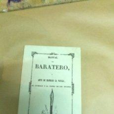 Libros: BARATERO ARTE DE MANEJAR LA NAVAJA. Lote 179098017