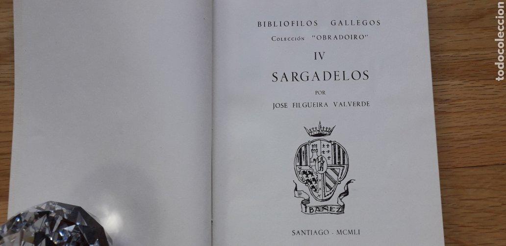 Libros: BIBLIOFILOS GALLEGOS,IV, SARGADELOS, JOSE FILGUEIRA VALVERDE, - Foto 2 - 192971486