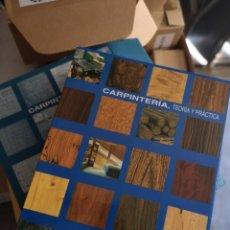 Libros: CARPINTERÍA, TEORIA Y PRACTICA - 4 TOMOS. Lote 207430516