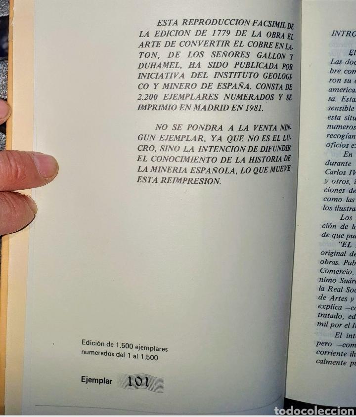 Libros: ARTE DE CONVERTIR EL COBRE EN LATON POR MEDIO DE LA PIEDRA - Foto 2 - 212430806