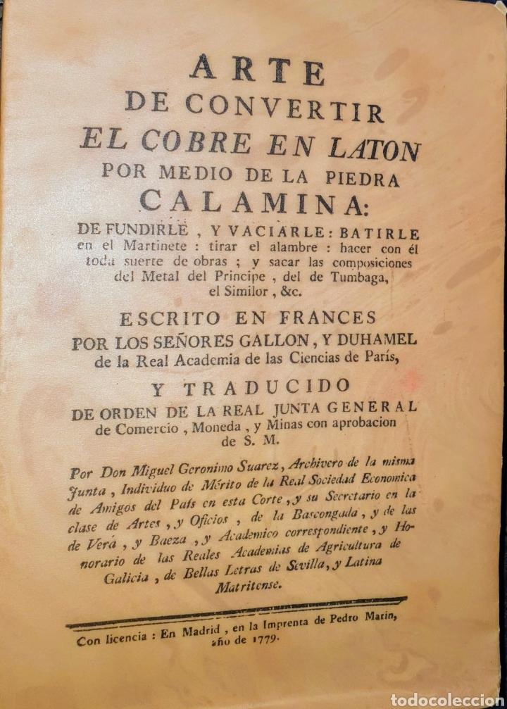 ARTE DE CONVERTIR EL COBRE EN LATON POR MEDIO DE LA PIEDRA (Libros Nuevos - Bellas Artes, ocio y coleccionismo - Artesanía y Manualidades)