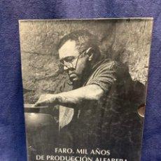 Livros: FARO: MIL AÑOS DE PRODUCCIÓN ALFARERA 2T POR ESPERANZA IBÁÑEZ Y JOSÉ ARIAS DE CAJASTUR OVIEDO 1995. Lote 223510862