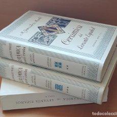 Livres: CERÁMICA LEVANTE- SIGLOS MEDIEVALES. TOMO II Y III. ALICATADOS /AZULEJOS / RETABLOS/ SOCARRATS. Lote 277520158