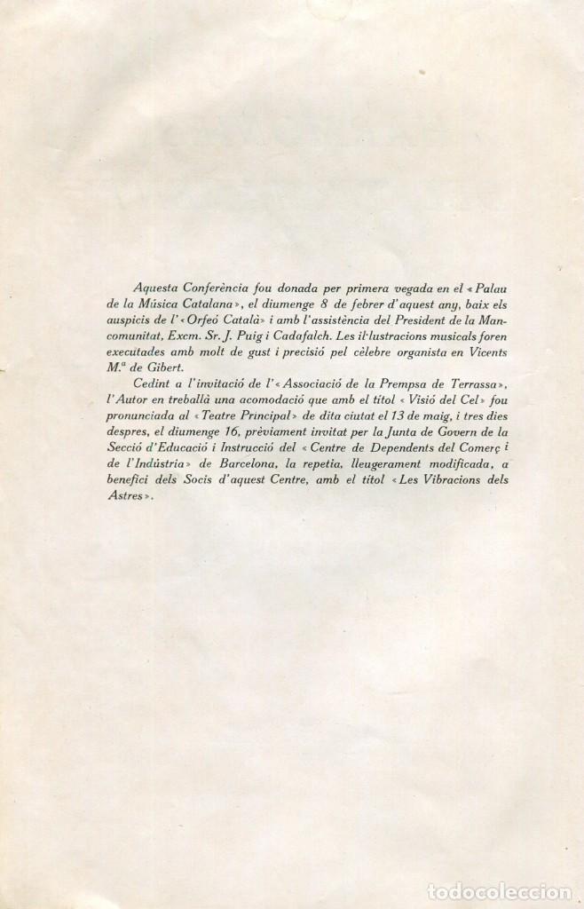 Libros: OBSERVATORI DEL EBRE-R.P LLUIS RODÉS S.J.- HARMONIES DEL FIRMAMENT-CONFERENCIA ASTRONOMICA ANY 1920. - Foto 4 - 144919838