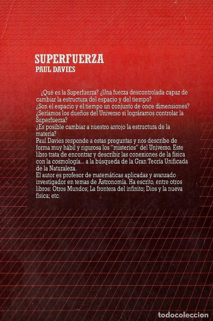 Libros: SUPER FUERZA. PAUL DAVIES - Foto 2 - 205329045