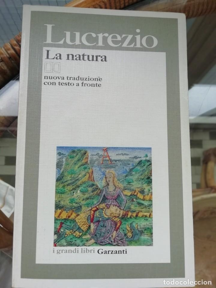 LUCRECIO LA NATURA EN ITALIANO (Libros Nuevos - Ciencias, Manuales y Oficios - Astronomía )
