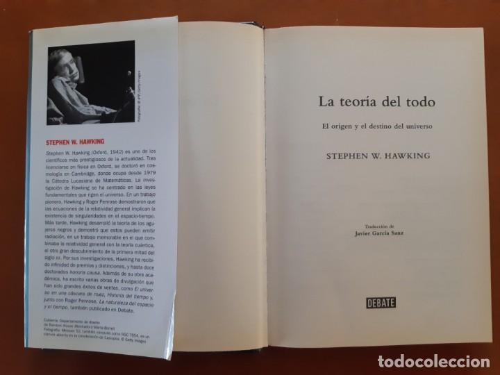 Libros: LA TEORIA DEL TODO. Stephen Hawking. eL ORIGEN Y EL DESTINO DEL UNIVERSO - Foto 2 - 232850650