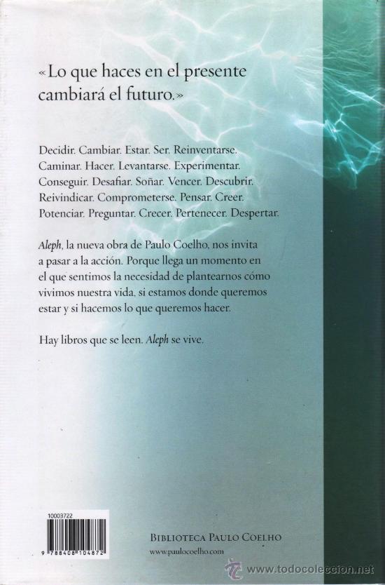Libros: ALEPH de PAULO COELHO - PLANETA, 2011 (NUEVO) - Foto 2 - 34699749