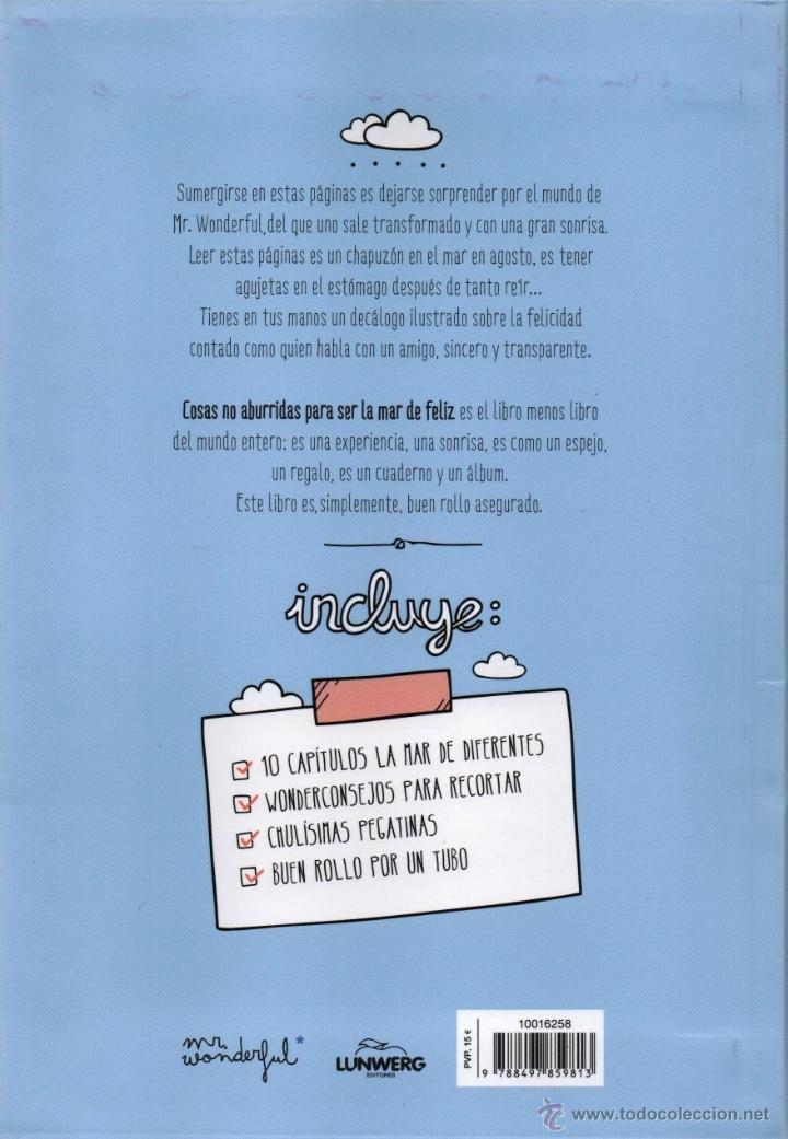 Libros: COSAS NO ABURRIDAS PARA SER LA MAR DE FELIZ de MR. WONDERFUL - LUNWERG, 2013 (NUEVO) - Foto 2 - 73446583