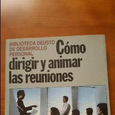 Libros: CÓMO DIRIGIR Y ANIMAR LAS REUNIONES DE TRABAJO . Lote 79551205
