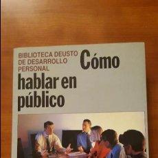 Libros: CÓMO HABLAR EN PÚBLICO. Lote 79551673