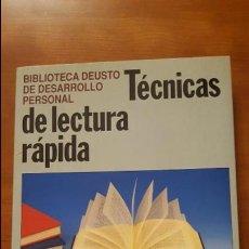 Libros: TÉCNICAS DE LECTURA RÁPIDA. Lote 79553909
