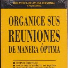 Libros: ORGANICE SUS REUNIONES DE MANERA ÓPTIMA ····· ROBERT F. MILLER .. Lote 98627155