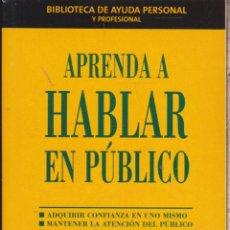 Libros: APRENDA A HABLAR EN PÚBLICO ····· MALCOLM PEEL .. Lote 98627199