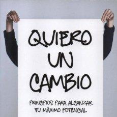 Libros: QUIERO UN CAMBIO DE BERNARDO STAMATEAS - PENGUIN RANDOM HOUSE, 2018 (NUEVO). Lote 179020883