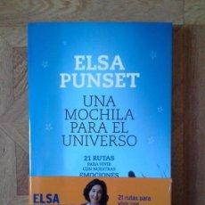 Libros: ELSA PUNSET - UNA MOCHILA PARA EL UNIVERSO. Lote 151056298