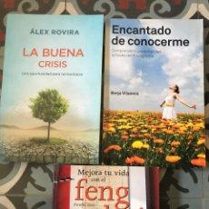 Libros: LOTE LIBROS AUTOAYUDA AUTO AYUDA FENG SHUI CRISIS VILASECA BORJA ALEX ROVIRA. Lote 179065046