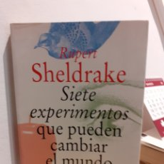 Libros: SIETE EXPERIMENTOS QUE PUEDEN CAMBIAR EL MUNDO. Lote 197432495