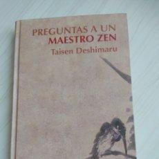 Libros: PREGUNTAS A UN MAESTRO ZEN. Lote 199224965